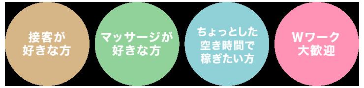 日本橋・谷町九丁目のリラクゼーションサロン求人情報【M's SWEET(エムズスイート)】